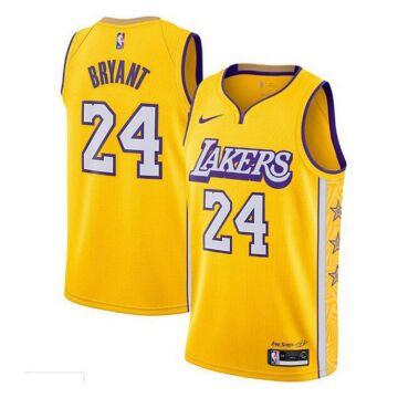 Los Angeles Lakers - Kobe Bryant - City Edition kosárlabda mez - sárga  - Férfi