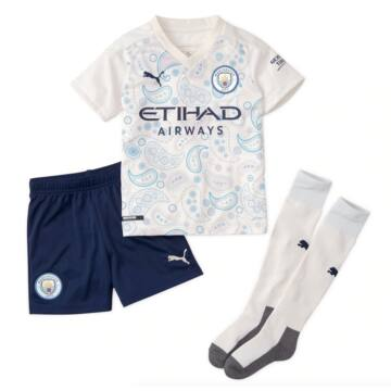 Manchester City 3. számú rövid ujjú 2020-2021 szett (mez+nadrág+sportszár) - Gyerek