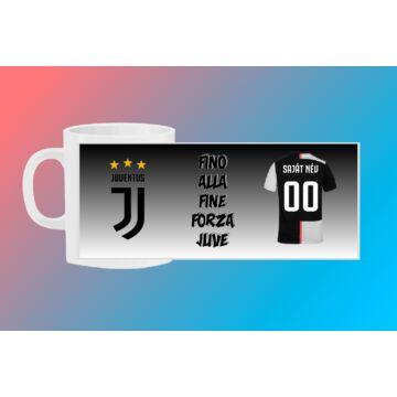 Juventus egyedi bögre saját névvel