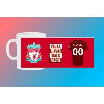 Liverpool egyedi bögre saját névvel