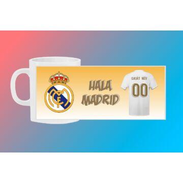 Real Madrid egyedi bögre saját névvel