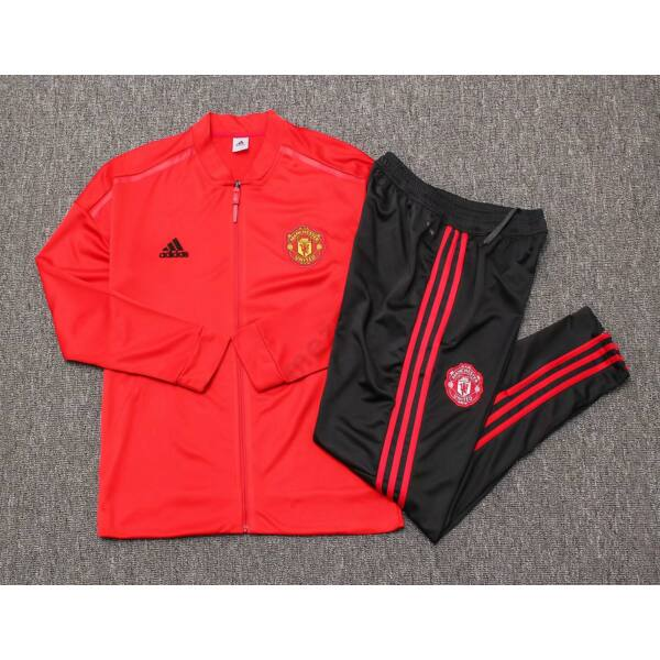 Manchester United melegítő szett (felső+alsó - cipzáros) - Férfi
