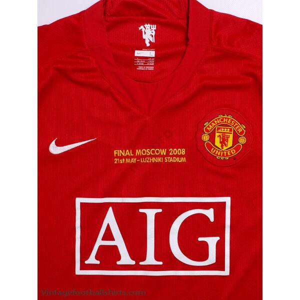 Manchester United 2007-2008 hazai rövid ujjú RETRÓ mez - Férfi
