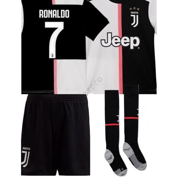 Juventus hazai rövid ujjú 2019-2020 szett (mez+nadrág+sportszár) - Gyerek