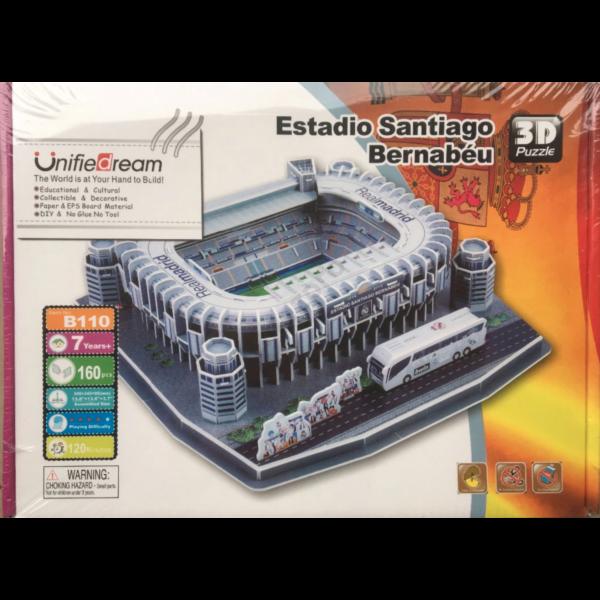 Santiago Bernabeu Real Madrid stadion - 3D Puzzle