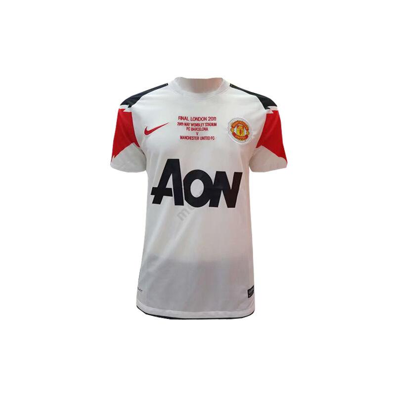 Manchester United 2010-2011 vendég rövid ujjú BL Döntős RETRÓ mez - Férfi