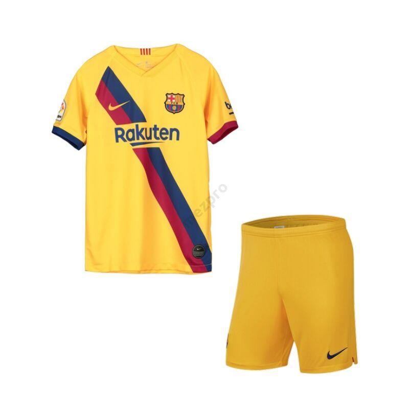Barcelona vendég rövid ujjú 2019-2020 mez+nadrág (szett) - Gyerek
