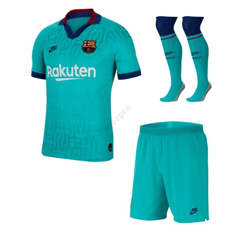 Barcelona 3. számú rövid ujjú 2019-2020 teljes szett (mez+nadrág+sportszár) - Férfi