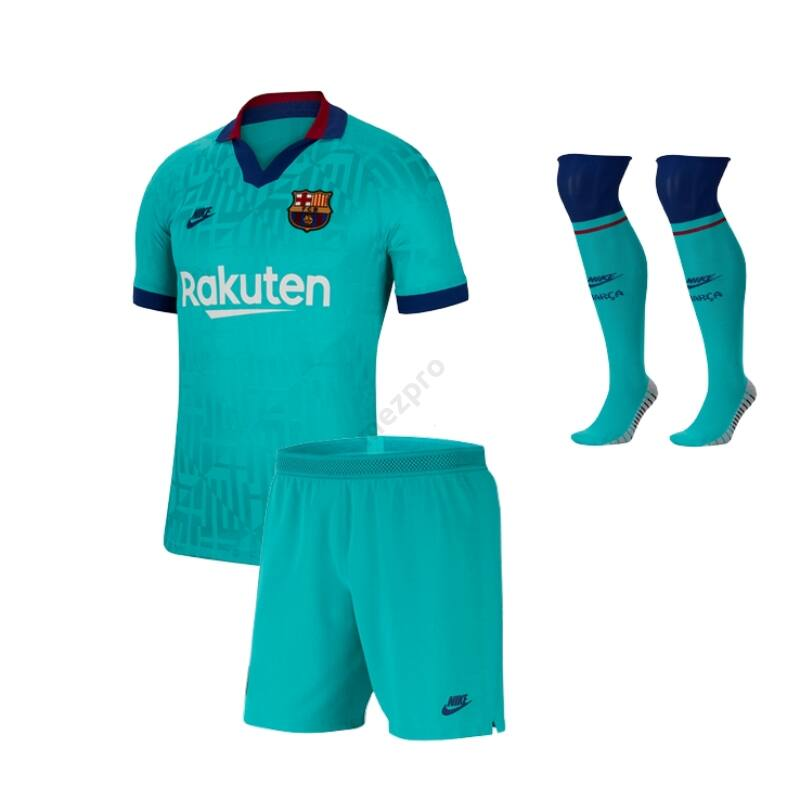 Barcelona 3. számú rövid ujjú 2019-2020 szett (mez+nadrág+sportszár) - Gyerek
