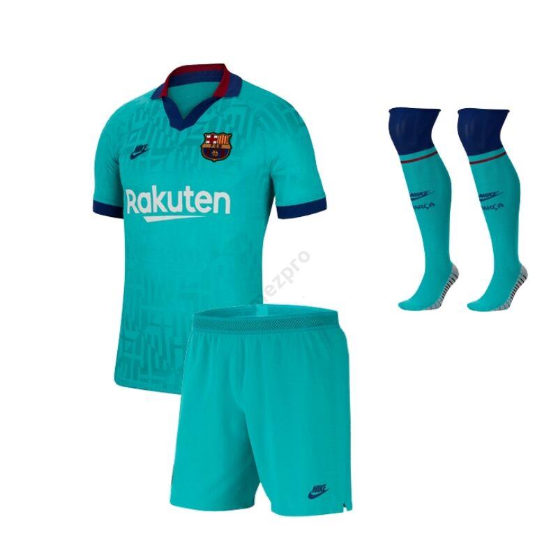 Barcelona 2019-2020 3. számú gyerek mez+nadrág+sportszár szett - RAKTÁRON