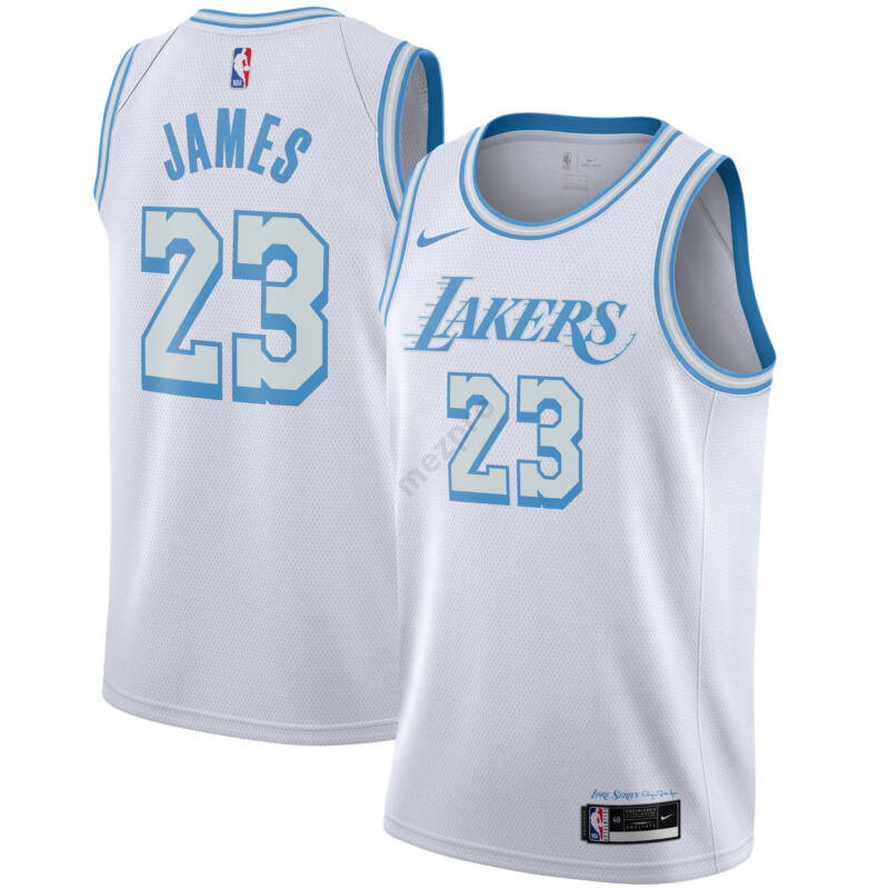 Los Angeles Lakers - LeBron James - City Edition kosárlabda mez 2021 - fehér