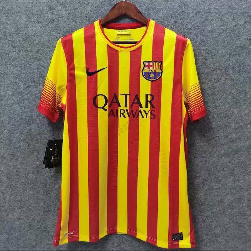 Barcelona 2013-2014 vendég rövid ujjú RETRÓ mez - Férfi