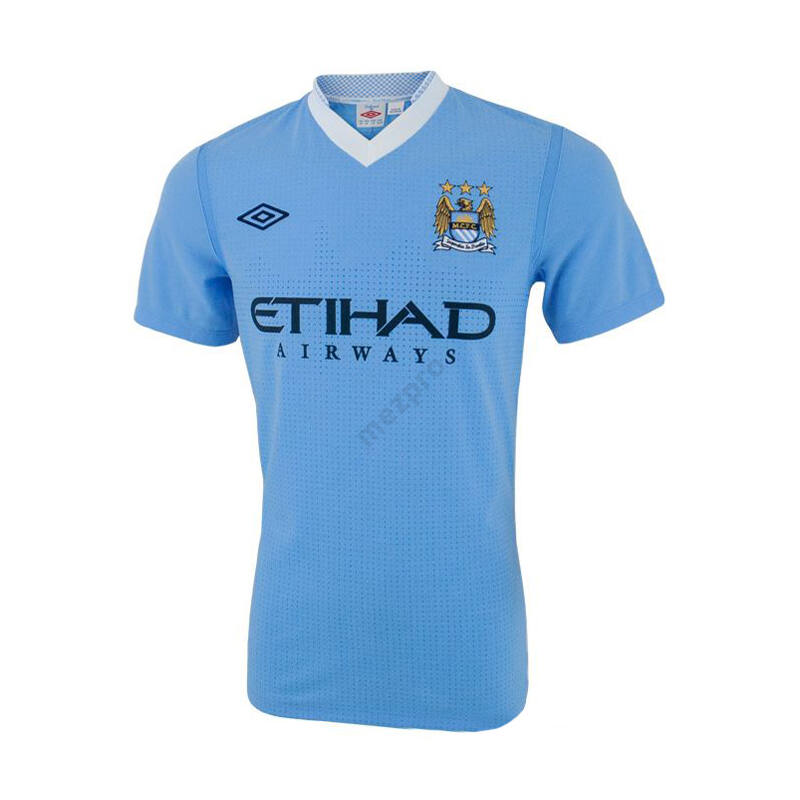 Manchester City 2011-2012 hazai rövid ujjú RETRÓ mez - Férfi