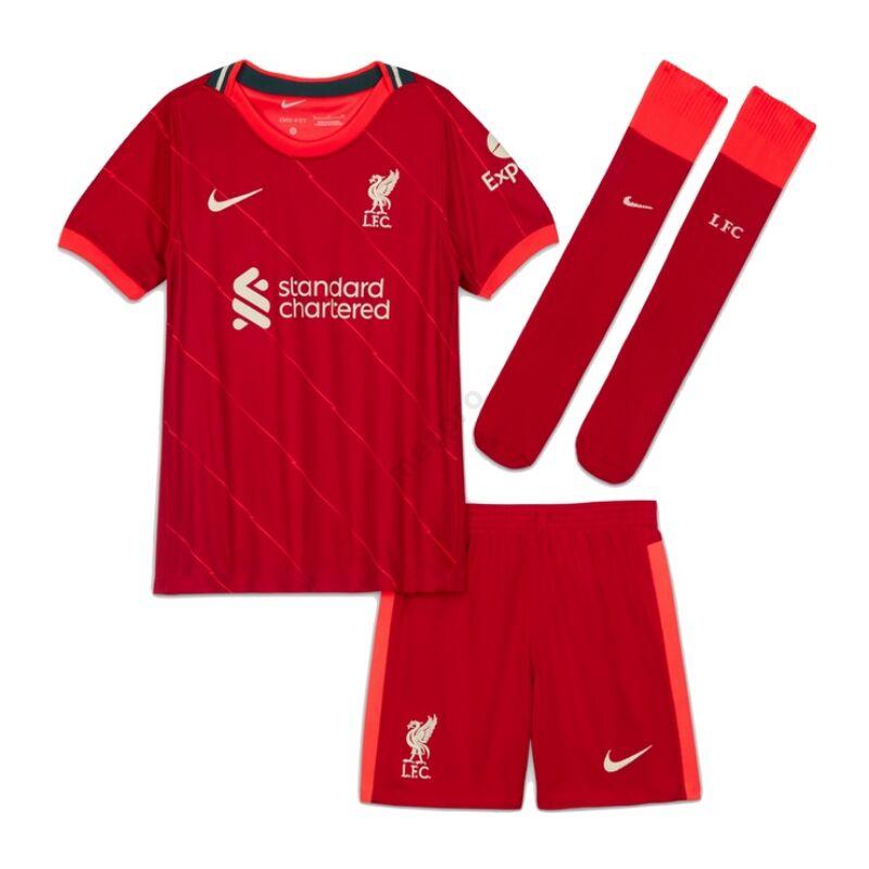 Liverpool hazai 2021-2022 szett (mez+nadrág+sportszár) - Gyerek