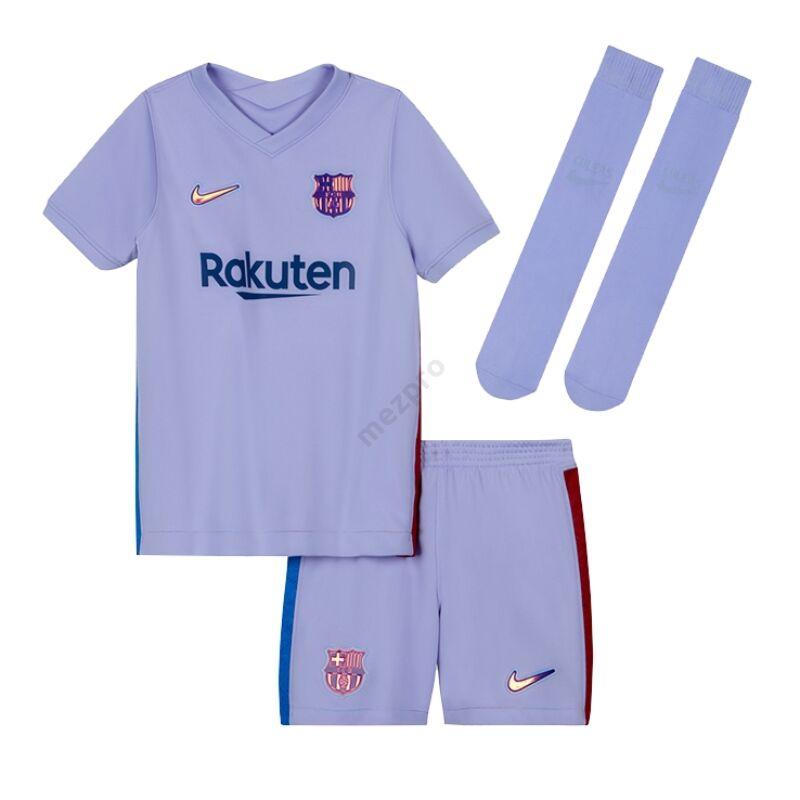 Barcelona vendég 2021-2022 szett (mez+nadrág+sportszár) - Gyerek