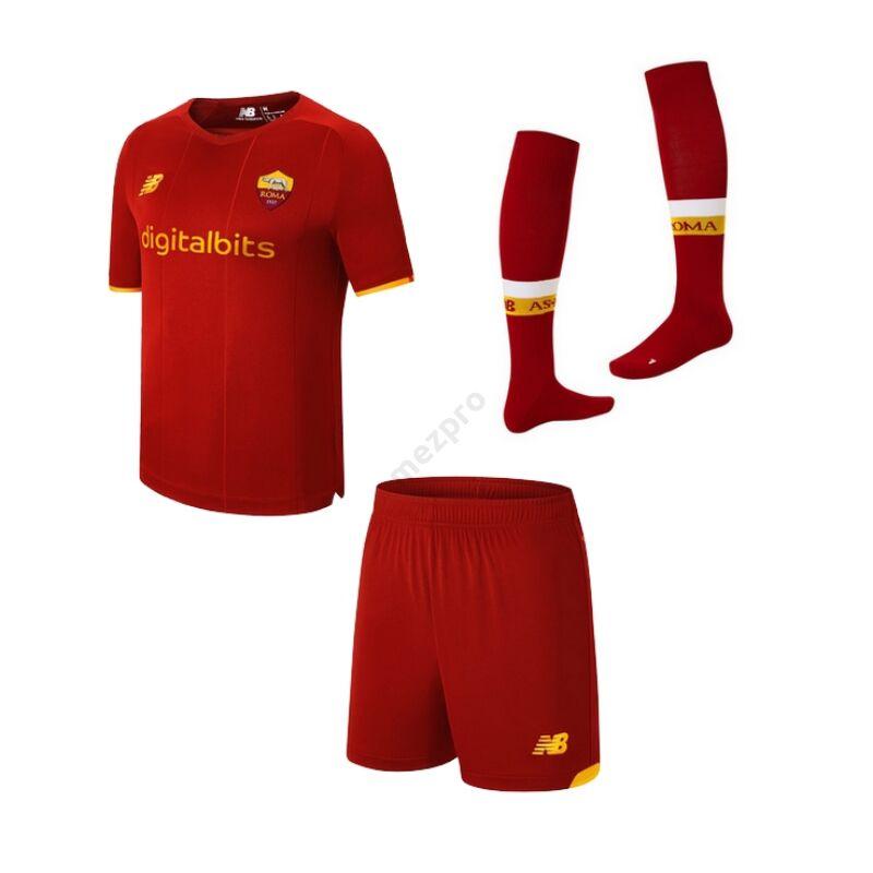 Roma hazai rövid ujjú 2021-2022 szett (mez+nadrág+sportszár) - Gyerek
