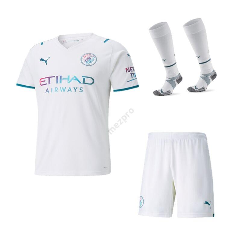 Manchester City vendég 2021-2022 szett (mez+nadrág+sportszár) - Gyerek