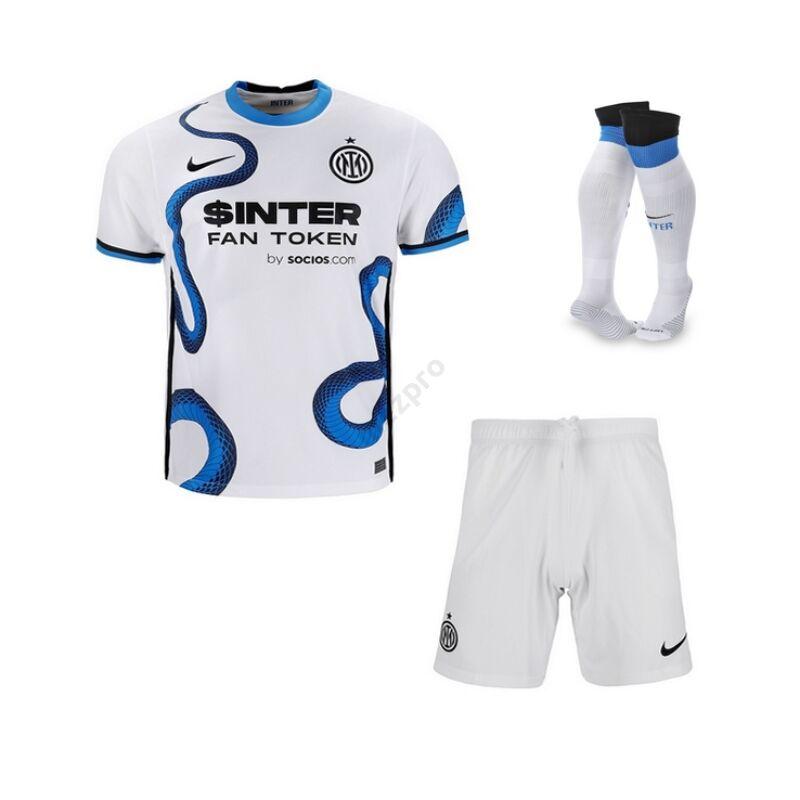 Inter vendég 2021-2022 szett (mez+nadrág+sportszár) - Gyerek