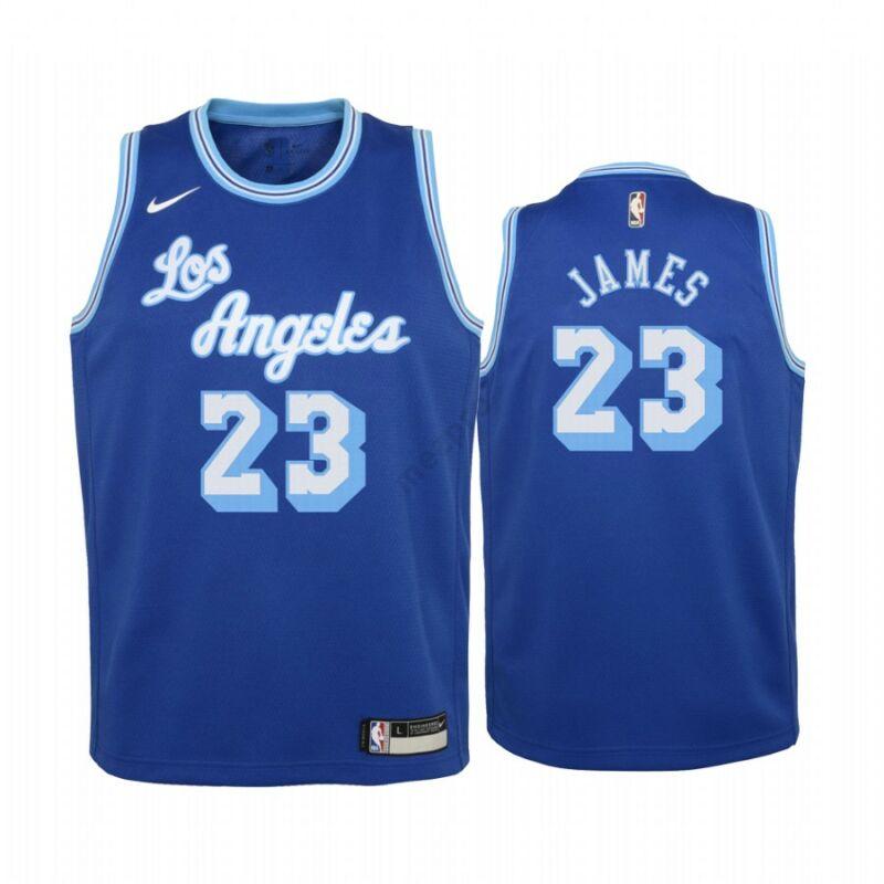 Los Angeles Lakers - LeBron James - kosárlabda mez 2021 - kék - Férfi