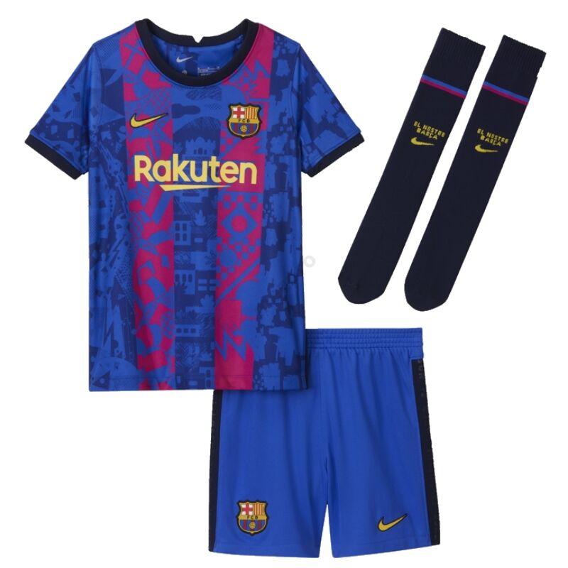 Barcelona 3. számú Bajnokok Ligája 2021-2022 szett (mez+nadrág+sportszár) - Gyerek