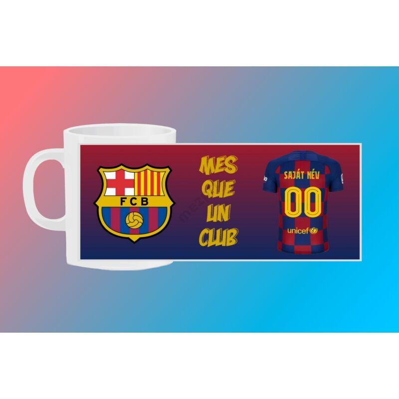 FC Barcelona egyedi bögre saját névvel