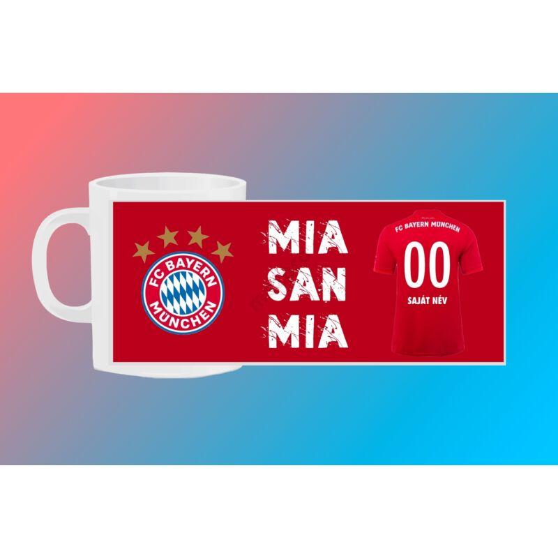 Bayern München egyedi bögre saját névvel