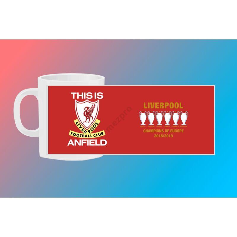 Liverpool egyedi bögre