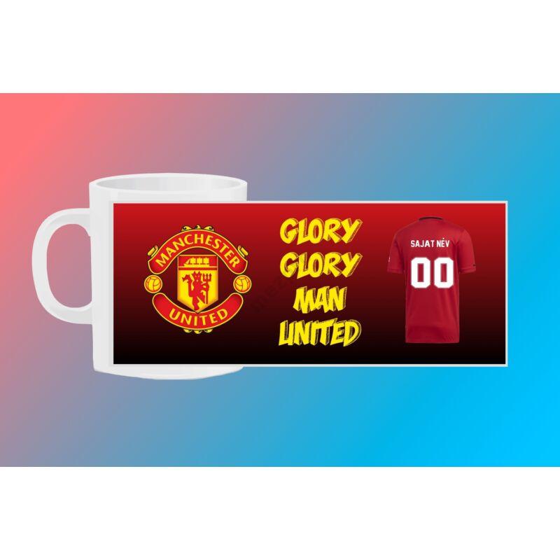 Manchester United egyedi bögre saját névvel