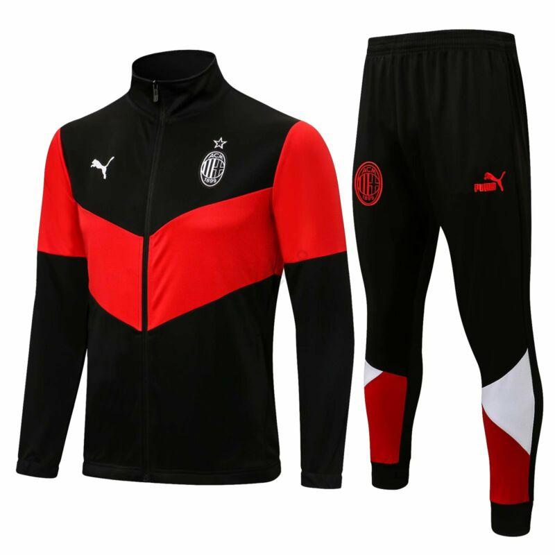 AC Milan melegítő szett 2021-2022 (felső+alsó - cipzáros) - Férfi