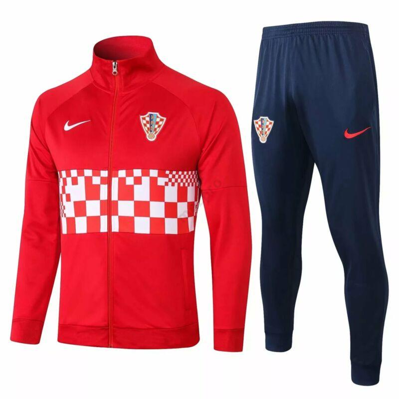 Horvát válogatott melegítő szett (felső+alsó - cipzáros) - Férfi